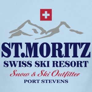 St. Moritz - Swiss flag T-Shirts - Men's Ringer T-Shirt