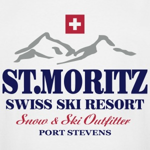 St. Moritz - Swiss flag T-Shirts - Men's Tall T-Shirt