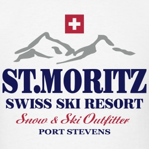 St. Moritz - Swiss flag T-Shirts - Men's T-Shirt