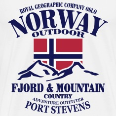Fjord & Mountain - Norway Flag T-Shirts