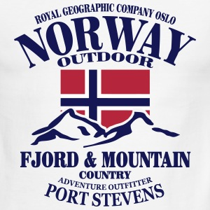Fjord & Mountain - Norway Flag T-Shirts - Men's Ringer T-Shirt