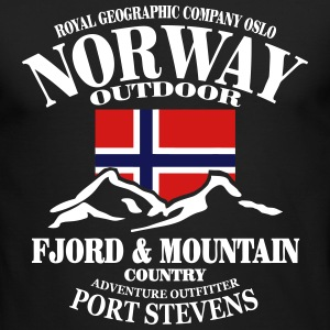 Fjord & Mountain - Norway Flag Long Sleeve Shirts - Men's Long Sleeve T-Shirt by Next Level