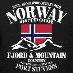 Fjord & Mountain - Norway Flag Women's T-Shirts