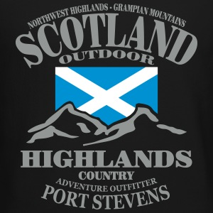 Highlands - Scotland Flag Long Sleeve Shirts - Crewneck Sweatshirt