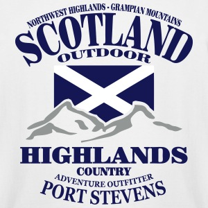 Highlands - Scotland Flag T-Shirts - Men's Tall T-Shirt