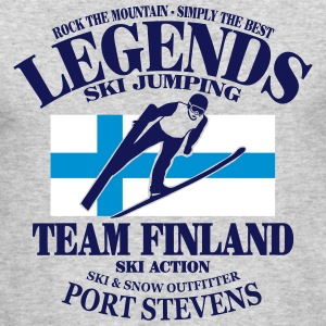 Finland Ski Jumping Long Sleeve Shirts - Men's Long Sleeve T-Shirt by Next Level