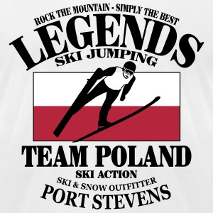Poland Ski Jumping T-Shirts - Men's T-Shirt by American Apparel