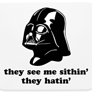 Design ~ Darth Vader They See Me Sithin' - Mouse Pad - Horizontal