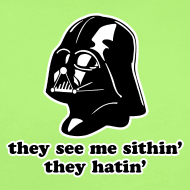 Design ~ Darth Vader They See Me Sithin' - Baby Short Sleeve One Piece
