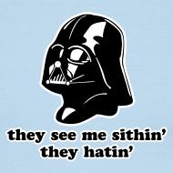Design ~ Darth Vader Sithin' - Men's Ringer T-Shirt by American Apparel