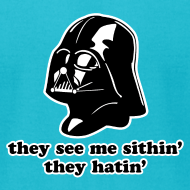 Design ~ Darth Vader Sithin' - Men's T-Shirt by American Apparel