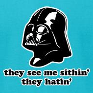Design ~ Darth Vader Sithin' - Men's T-Shirt by American Apparel