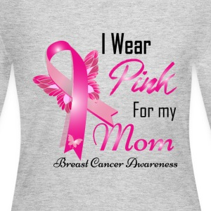 I Wear Pink For My Mom Breast Cancer Awareness Long Sleeve Shirts - Women's Long Sleeve Jersey T-Shirt