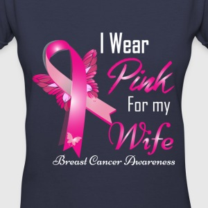 i wear pink for my wife breast cancer Women's T-Shirts - Women's V-Neck T-Shirt