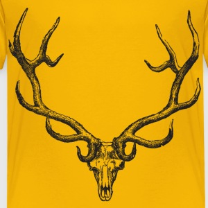 Yellow Deer Head T-Shirt - Toddler Premium T-Shirt