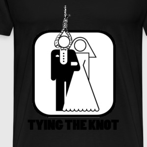 Funny Tying the Knot - Men's Premium T-Shirt