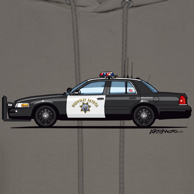 89555de2605 California Highway Patrol Ford Crown Victoria Police Interceptor | Men's  Hoodie