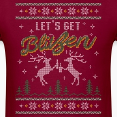 UGLY HOLIDAY SWEATER LET'S GET BLITZEN T-Shirts