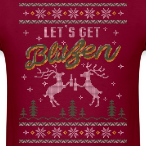 UGLY HOLIDAY SWEATER LET'S GET BLITZEN T-Shirts - Men's T-Shirt