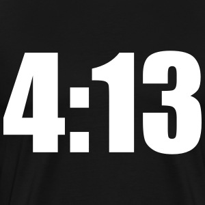 4:13 Black Tee - Men's Premium T-Shirt