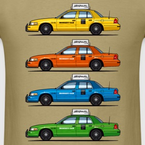 4 Color Cabs - Ford Crown Victoria Taxi Yellow, Re - Men's T-Shirt