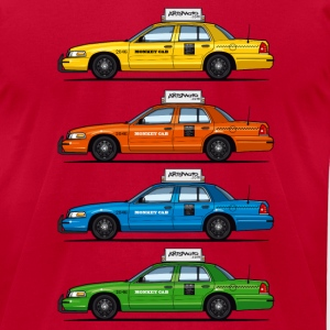 4 Color Cabs - Ford Crown Victoria Taxi Yellow, Re - Men's T-Shirt by American Apparel