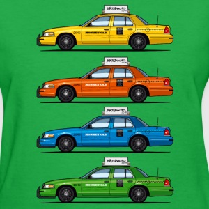 4 Color Cabs - Ford Crown Victoria Taxi Yellow, Re - Women's T-Shirt