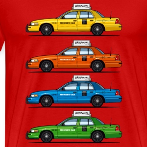4 Color Cabs - Ford Crown Victoria Taxi Yellow, Re - Men's Premium T-Shirt