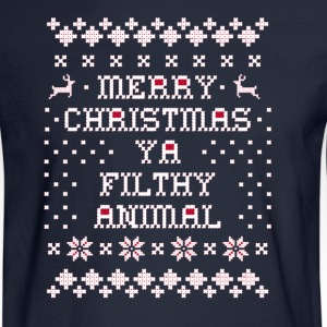 Merry Christmas Ya Filthy Long Sleeve Shirts - Men's Long Sleeve T-Shirt