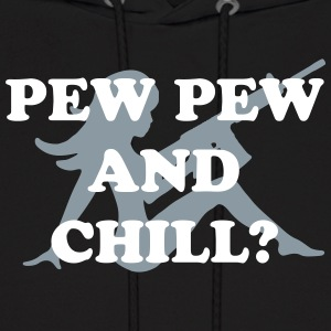 PEW AND CHILL - Men's Hoodie