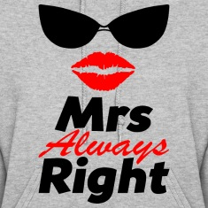 MrsRight-couple Hoodies