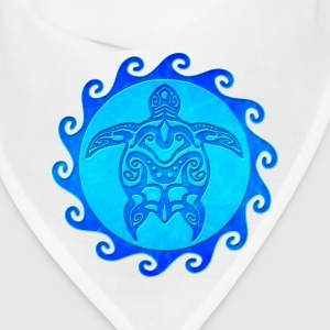 Blue Tribal Turtle - Bandana