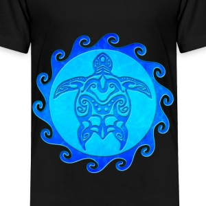 Blue Tribal Turtle - Toddler Premium T-Shirt