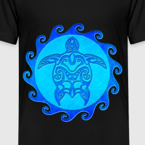 Blue Tribal Turtle - Kids' Premium T-Shirt