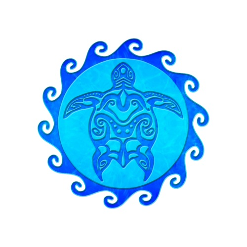 Blue Tribal Turtle