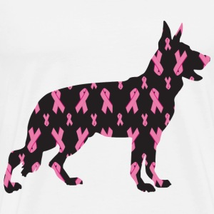 Pink Ribbon German Shepherd - Men's Premium T-Shirt