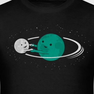 Relation Between Globe And Moon T-Shirts - Men's T-Shirt