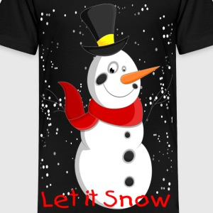 Snowman with Snowflakes - Kids' Premium T-Shirt