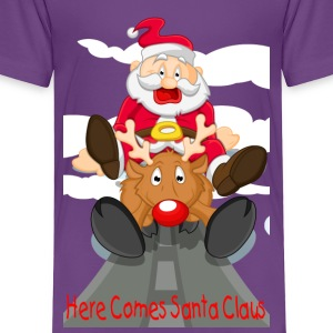Here Comes Santa & Rudolph Baby & Toddler Shirts - Toddler Premium T-Shirt