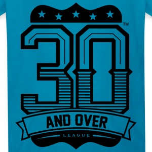ROYAL BLUE AND BLACK KIDS 30 AND OVER LEAGUE TEE - Kids' T-Shirt