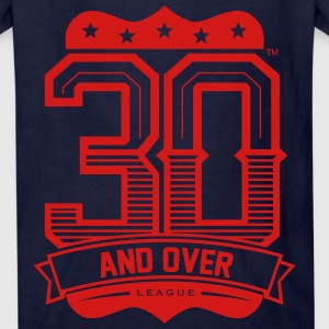 BLACK AND RED KIDS 30 AND OVER LEAGUE TEE - Kids' T-Shirt