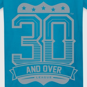 ROYAL BLUE AND SILVER KIDS 30 AND OVER LEAGUE TEE - Kids' T-Shirt