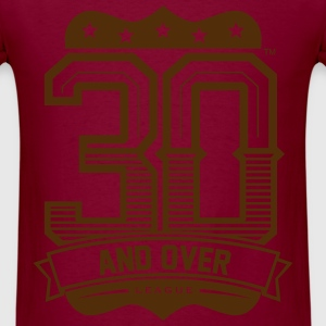 BURGUNDY AND GOLD UNISEX 30 AND OVER LEAGUE TEE - Men's T-Shirt