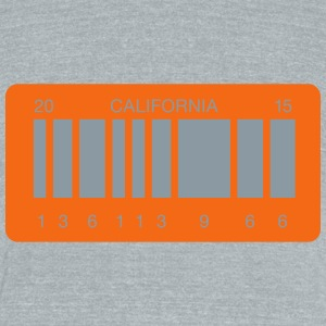 Back to the future barcode license plate - Unisex Tri-Blend T-Shirt by American Apparel