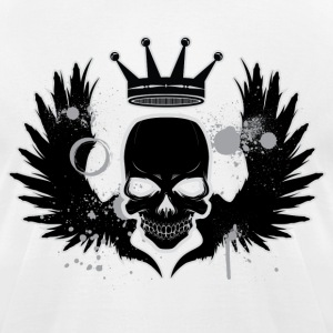 Skull With Wings and a Crown T-Shirts - Men's T-Shirt by American Apparel