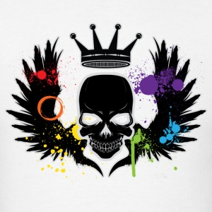 Skull Rainbow Splat LGBT  T-Shirts - Men's T-Shirt