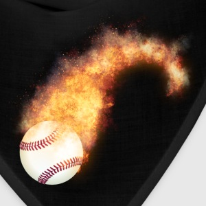 Flaming Baseball Zoom Caps - Bandana
