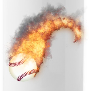 Flaming Baseball Zoom Mugs & Drinkware - Water Bottle