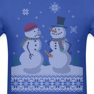 UGLY HOLIDAY SWEATER HAPPY SNOWMAN CARROT THIEF T-Shirts - Men's T-Shirt