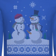 UGLY HOLIDAY SWEATER HAPPY SNOWMAN CARROT THIEF Lo